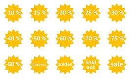 Sale icons Stock Photography