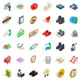 Sale icons set, isometric style. Sale icons set. Isometric style of 36 sale vector icons for web  on white background Royalty Free Stock Photos