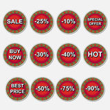 Sale icons set Royalty Free Stock Image