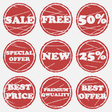 Sale icons set Royalty Free Stock Photos