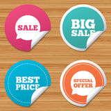 Sale icons. Special offer speech bubbles symbols. Royalty Free Stock Photos