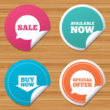 Sale icons. Special offer speech bubbles symbols. Stock Photography