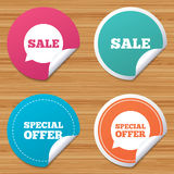 Sale icons. Special offer speech bubbles symbols. Royalty Free Stock Photo