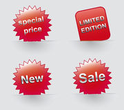 Sale icons Special offer Vector sticker Royalty Free Stock Image