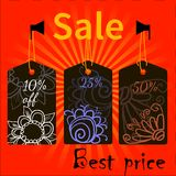 Sale icons theme Œ. Sale icons theme for your design business Stock Image