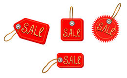 Sale icons on white Stock Photos