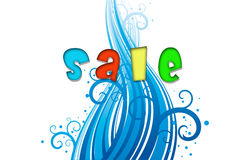 Sale, illustration. Royalty Free Stock Photo