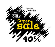 Sale illustration with rounded lines background Stock Photography