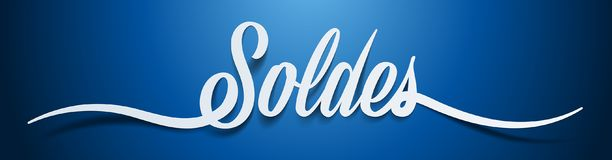 Free Sale In French : Soldes Royalty Free Stock Photos - 109437728