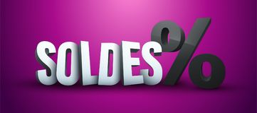 Free Sale In French : Soldes Stock Photo - 110421300