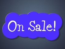 On Sale Indicates Sales Promo And Closeout Stock Images
