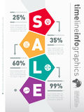 Sale infographic timeline. Web Template for diagram or presentat. Ion. Business concept with four options. Vector infographic of process Royalty Free Stock Image