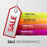 Sale infographics Royalty Free Stock Image
