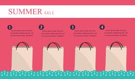 Sale infographics with shopping bags Royalty Free Stock Photo