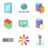 Sale of information icons set, cartoon style Royalty Free Stock Photo