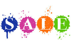Sale in ink drops Stock Images