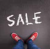 Sale inscription Stock Image