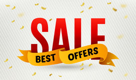 Sale inscription on confetti background. Sale banner. Vector illustration Royalty Free Stock Image