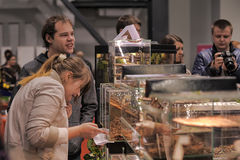 Sale of insects and reptiles. Exhibition and sale of insects and reptiles, St. Petersburg, Russia Stock Image