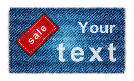 Sale jeans background Royalty Free Stock Photo
