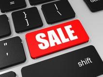 SALE key on keyboard of laptop computer. Stock Photos