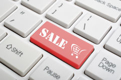 Sale on keyboard Stock Photos