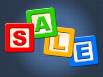 Sale Kids Blocks Indicates Youths Youngsters And Youth royalty free illustration