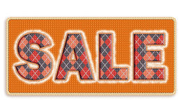 Sale. Knit effect. Realistic knit effect and knitwear textures royalty free stock photography