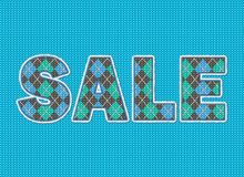 Sale. Knit effect. Stock Images