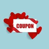 Sale kupong, kupong, etikett illustration s för hjärta för green för dreamstime för kortdagdesignen stylized valentinvektorn Vekt vektor illustrationer