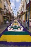 Sale la alfombra en el EL Puerto de Santa María, España Foto de archivo libre de regalías
