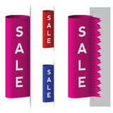 Sale label. Vector illustration of sale ribbon label Stock Image
