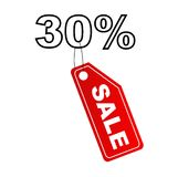Sale label with 30% discount Stock Images