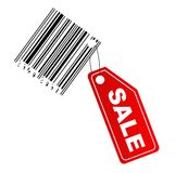 Sale label with barcode Royalty Free Stock Photo