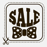 Sale label with bow-tie. Vintage sale label with stylish bow-tie Stock Images