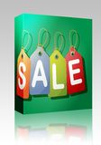 Sale label box package Stock Photo
