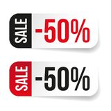 Sale label half price sticker Royalty Free Stock Image
