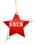 Sale label hanging Royalty Free Stock Photography