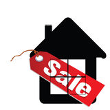 Sale label house illustration Royalty Free Stock Photo