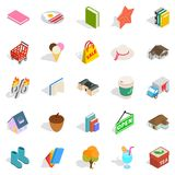Sale of label icons set, isometric style. Sale of label icons set. Isometric set of 25 sale of label vector icons for web isolated on white background Royalty Free Stock Photo