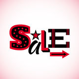 Sale label isolated on white background. Stock Photography