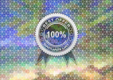 Sale label on mosaic background Royalty Free Stock Image