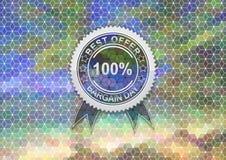 Sale label on mosaic background Royalty Free Stock Image