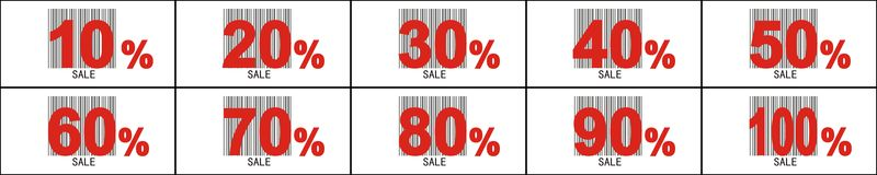 Sale label and pecentual sale. Stock Images