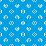 Sale label 50 percent off discount pattern seamless blue. Sale label 50 percent off discount pattern repeat seamless in blue color for any design. Vector Stock Photography