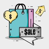 Sale label percent offer price Royalty Free Stock Photo