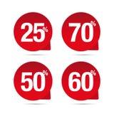Sale label pointer set Stock Images