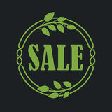 Sale label price tag banner badge in flora design Royalty Free Stock Image