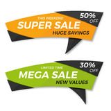 Sale label price tag banner badge template sticker design. Stock Images