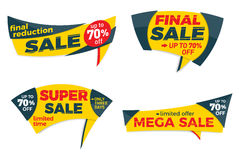 Sale label price tag banner badge template sticker design. Vector illustration Royalty Free Stock Photo
